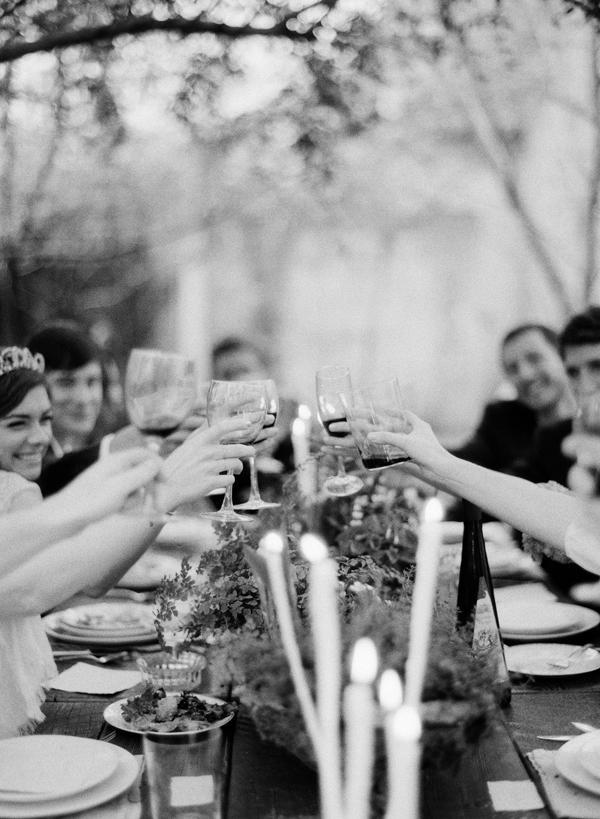 wedding-toast-handmade-candles-reception-tiara
