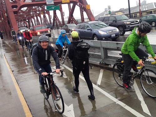 BTA staff promoting Bike Commute Challenge-2