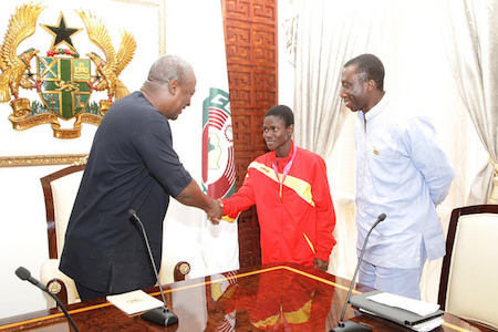 Mahama congratulates Olympic gold medalist Bissah