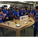 Apple Store Chadstone Staff get a private viewing of the new iPhone 6 before the doors open