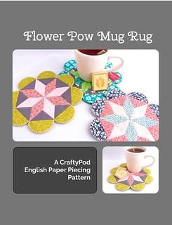 Flower POW Mug Rug: an EPP Pattern