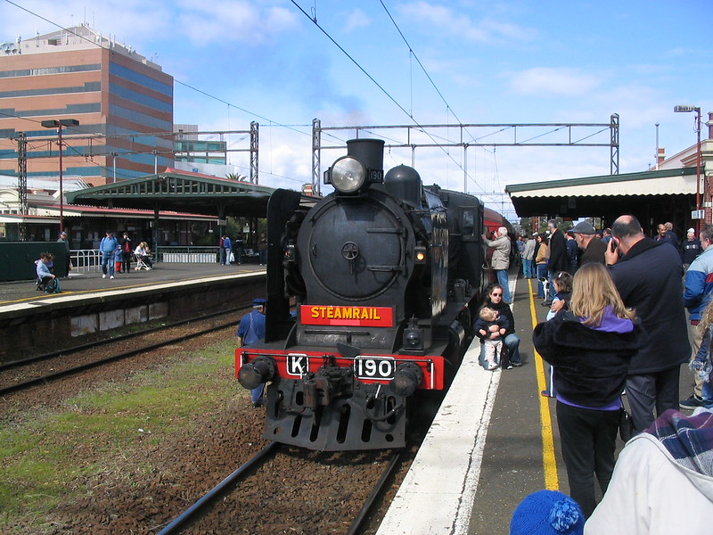 Steamrail train at Caulfield 12/9/2004