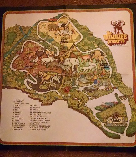 Vintage 1970s Map of a Now-Defunct Theme Park