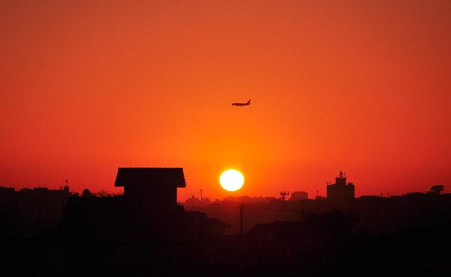 brazil sun sol brasil sunrise landscape horizon paisagem céu janela redsky horizonte nascerdosol 18105mm nikond90