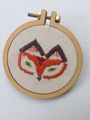 Fox brooch mini hoop