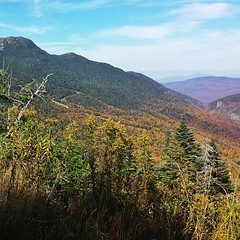 Peaking at the peak. #mansfield #notch #vermont #fallvibes #hike