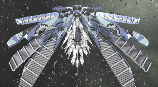 Space Engineers: Armored Core Transforming Station, Curved Window Mods Surface   One Angry Gamer