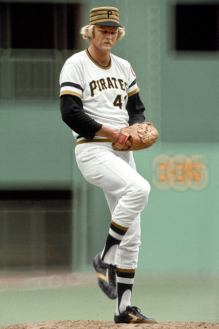 ... several NL teams adopt Chicago-style pillbox caps during the 1976  season. The Pirates adopt the caps on a full-time basis 4deefaf0efd