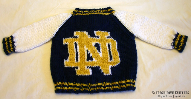 Notre Dame Letterman Sweater