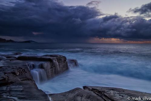 cloud clouds sunrise waves sydney australia nsw centralcoast avocabeach