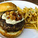 The French Onion Burger, Black and Bleu Cheese, Crispy Shallots, Caramelized French Onions, Garlic Parmesan Fries. by sheryip