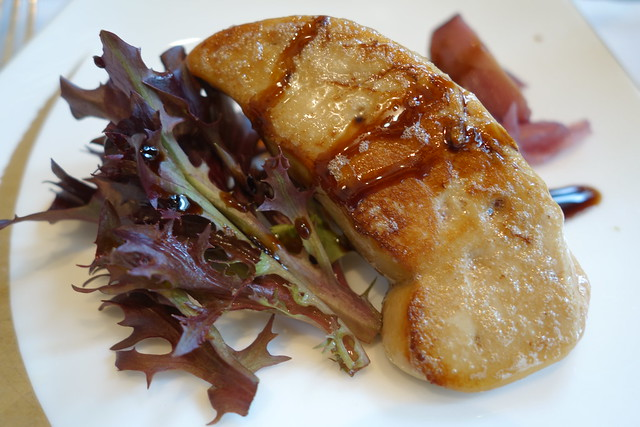 Pan-fried Foie Gras at Brasserie Les Saveurs, St. Regis Bloody Mary Anniversary Brunch