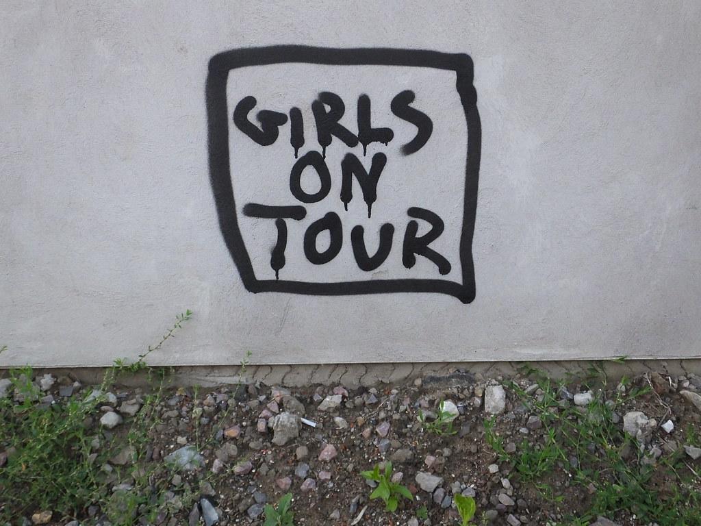 Girls on Tour graffiti in Cardiff