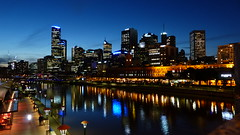 Melbourne by night. Aust.