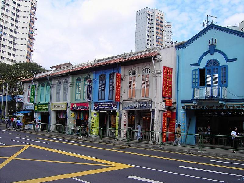 Singapore. Colourful shops.