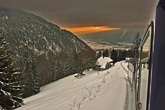 Swiss train experience . Allons voir un coucher de soleil  . No. 6544.
