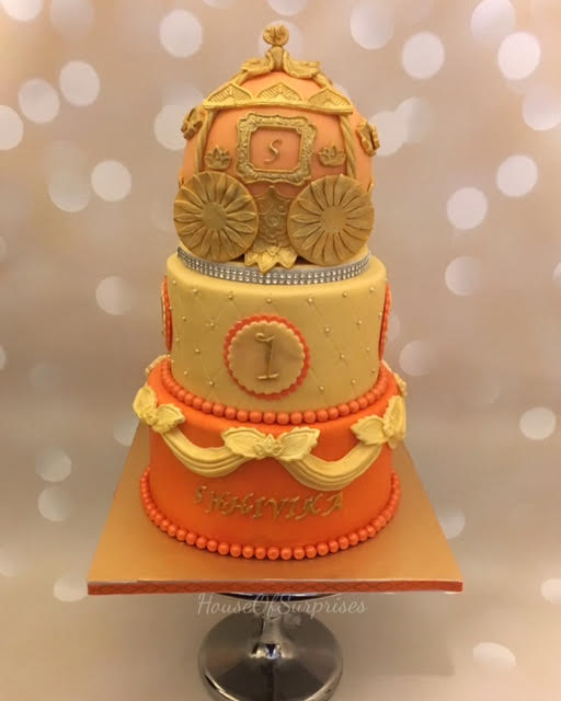 Royal Carriage Cake by Shikha Jain of HouseOfSurprises
