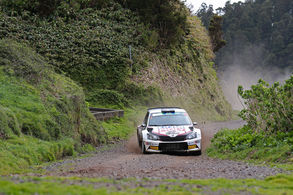 07 SIRMARCIS Ralfs SIMINS Arthurs Soda FABIA R5 Action during the 2017 European Rally Championship ERC Azores rally,  from March 30  to April 1, at Ponta Delgada Portugal - Photo Gregory Lenormand / DPPI