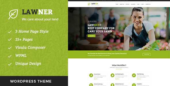 Lawner WordPress Theme free download