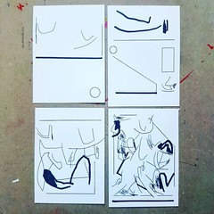 Quadriptych for Bomba @massimiliano_bomba ________________________________________________  #drawing #illustration #abstract #comic 2017