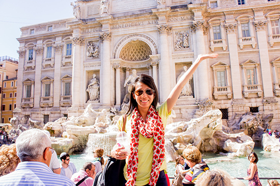 at the Trevi Fountain