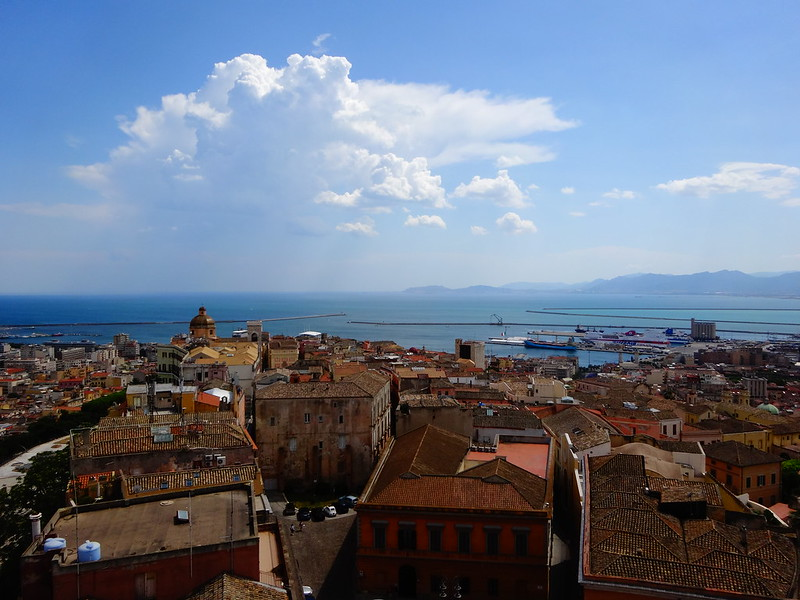 Looking southwest from S. Pancras Tower, Cagliari