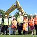 First sod cut at Eglinton Primary School, 18 June 2014