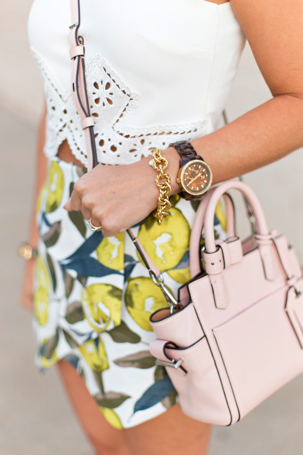 Lemon print + paisley cutout detail