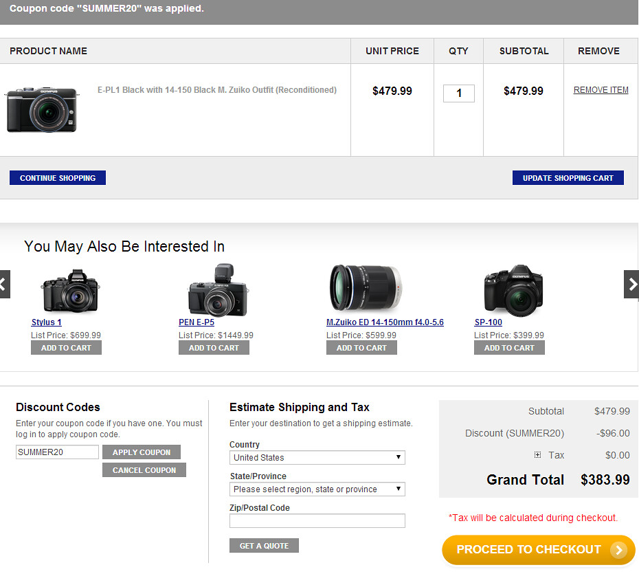 Olympus Coupons. 19 Coupons. lossroad.tk is the official website of the Olympus store for digital cameras, lenses, and audio recorders. Since its inception in the first half of the 20th century, Olympus has become a leading figure in the optics industry. Today it offers .