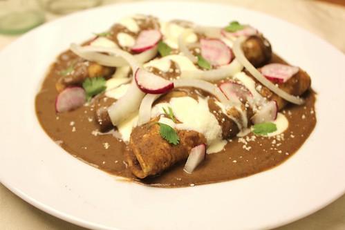 Oaxacan-style Enfrijoladas