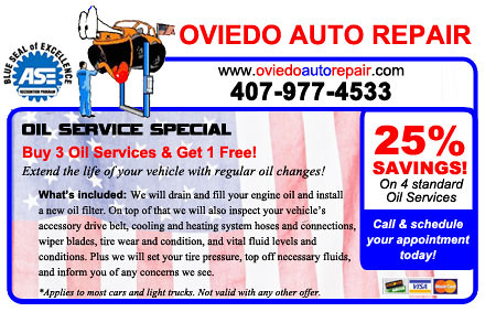 Buy 3 Oil Changes & Get One Free