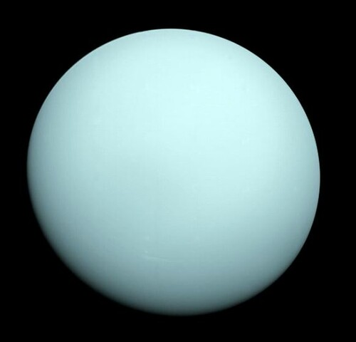 Uranus Photo by NASA and Wikipedia
