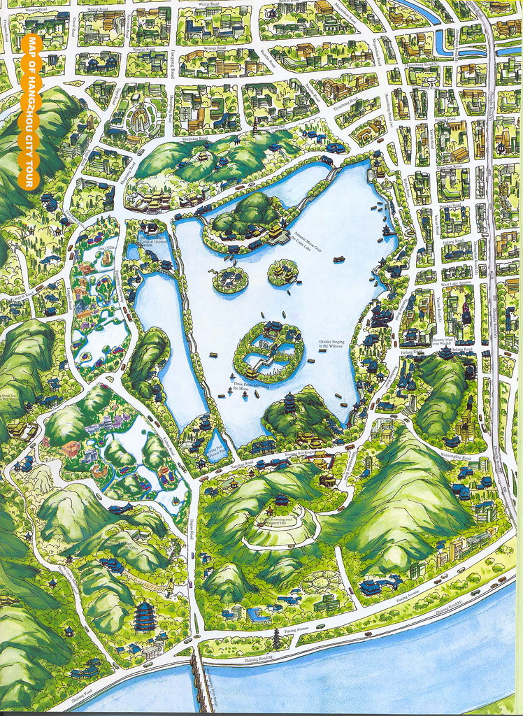 Hangzhou-City-Tour-Map