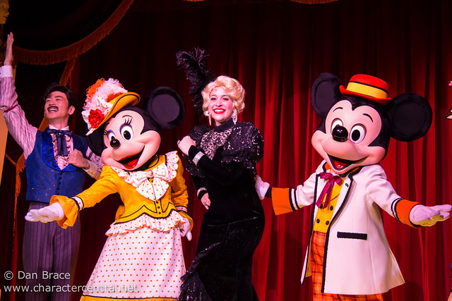 Mickey and Company at the Diamond Horseshoe