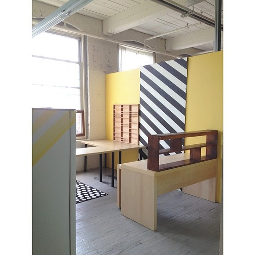 Angles + dots + stripes. #newstudio