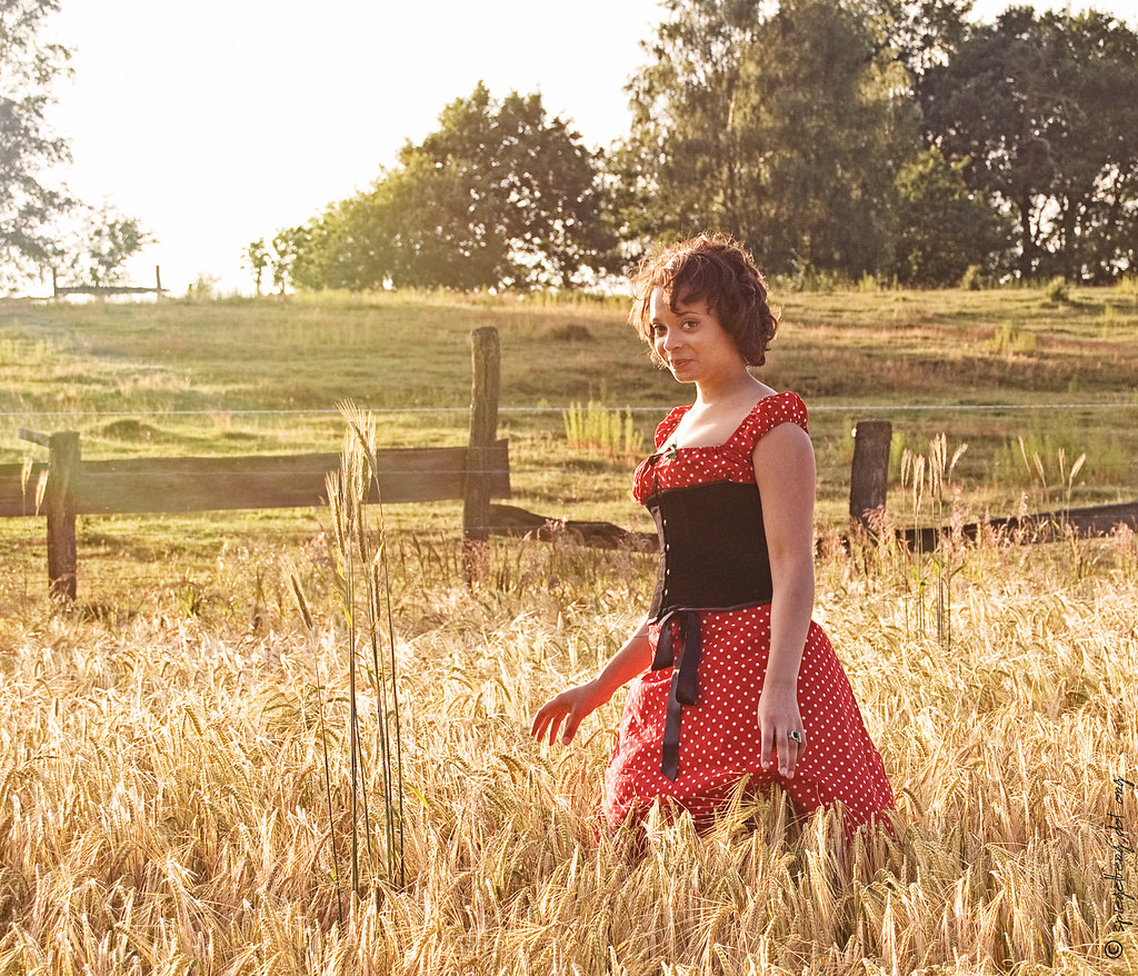 Minou im Feld
