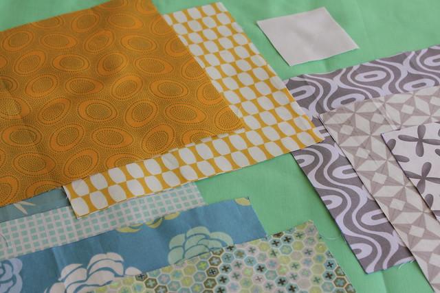 Snowball quilt block color palette