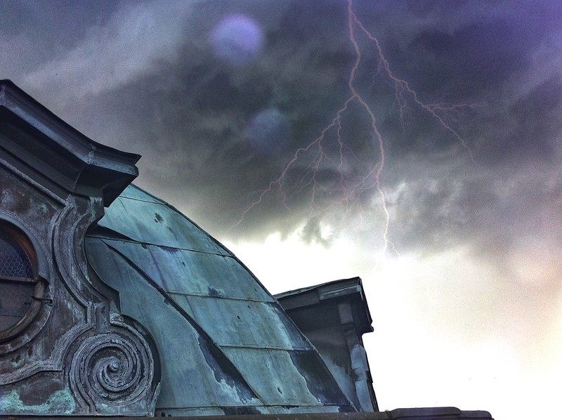 Storm on the rooftop