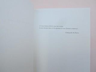 Ortografia della neve, di Francesco Balsamo. incertieditori 2010. Progetto grafico di officina delle immagini. Pagina dell'esergo: a pag. 9. (part.), 1