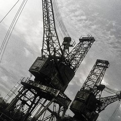 #black_and_white #cranes #bnw #bnw_london #Battersea Power Station