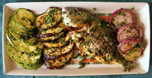 Dourada e legumes grelhados....