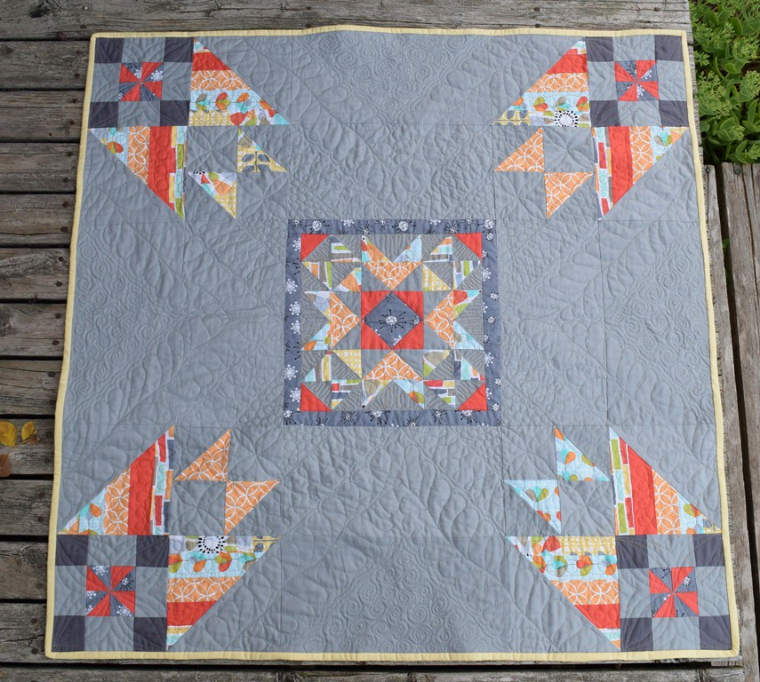 Pinwheels Star baby quilt