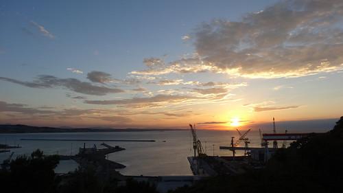 sunset sea summer italy sun colors clouds landscape italia tramonto nuvole mare estate cloudy porto sole colori paesaggi marche gru ancona