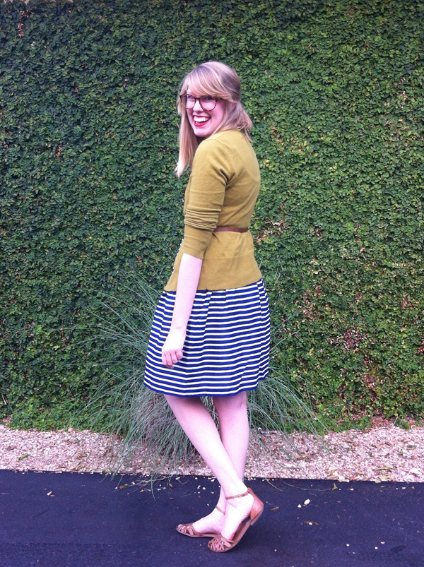navy summer stripes
