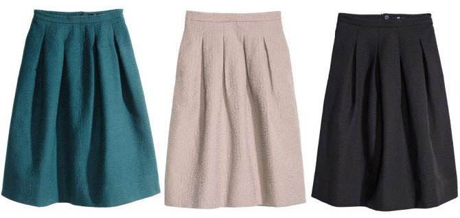 H and m skirt