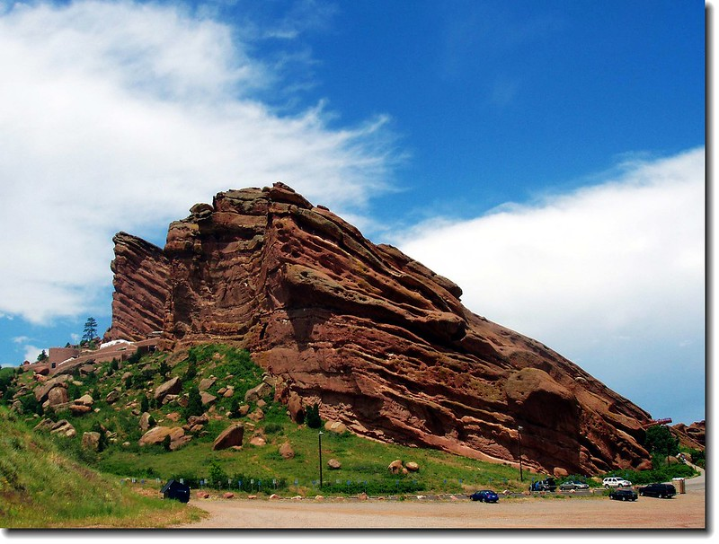 Visitor Center,Creation Rock (L) & Ship Rock(R)