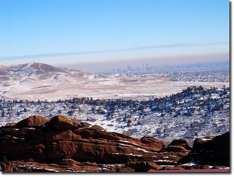 Dinosaur Ridge (遠後方為丹佛市區)