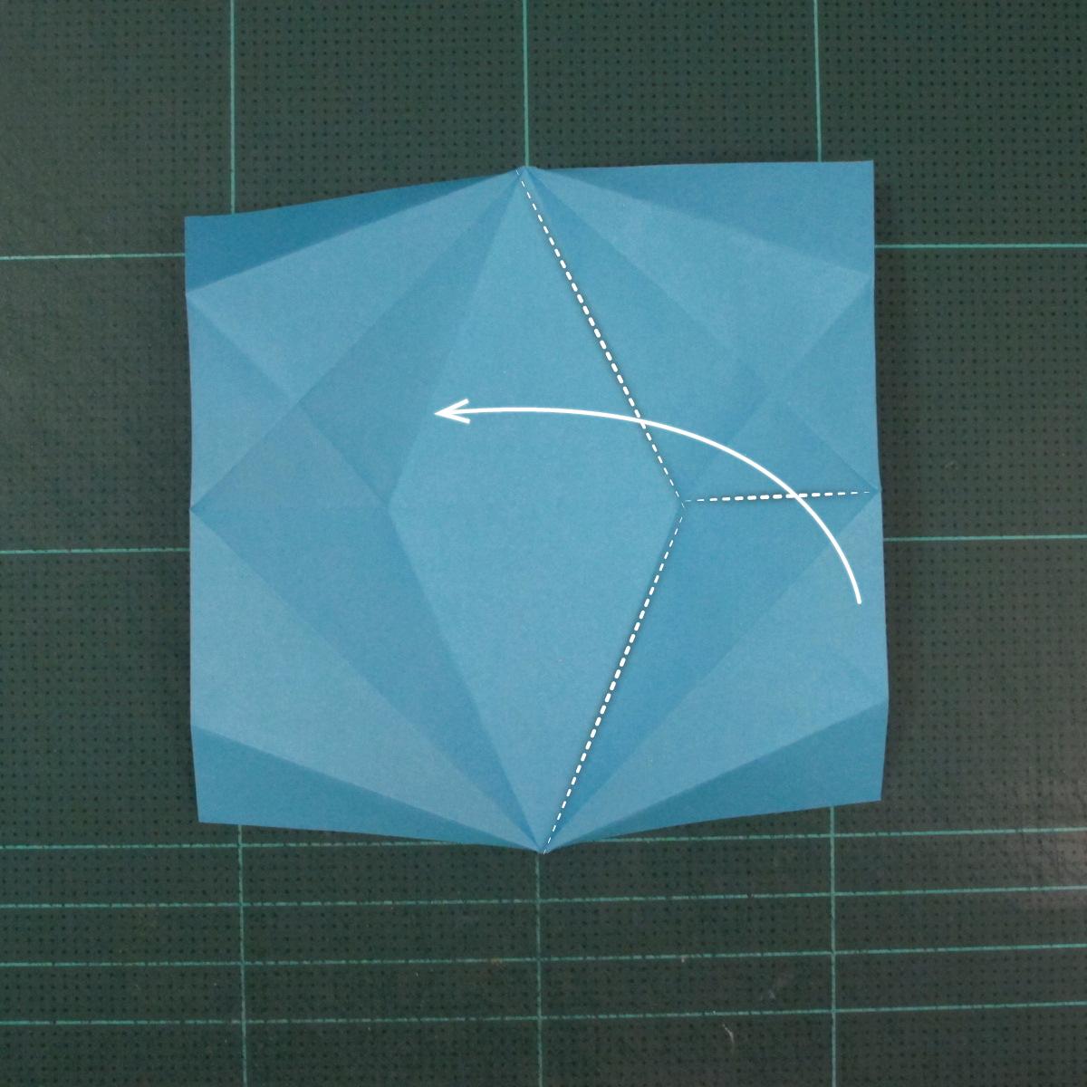 วิธีพับกระดาษเป็นถาดใส่ขนมรูปดาวแปดแฉก (Origami Eight Point Star Candy Tray) 009