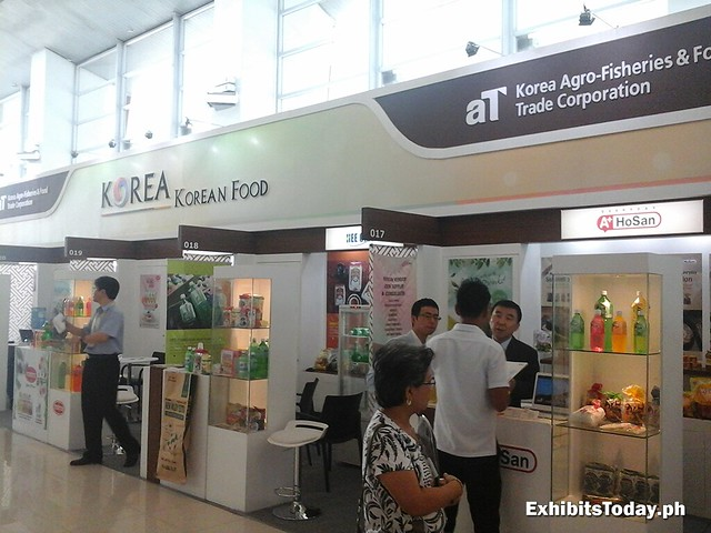 Korean Food Exhibit Stands