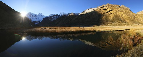 lake peru sunrise landscape mirror see ngc andes landschaft sonnenaufgang spiegelung anden cordillerahuayhuash jirishanca jahuacocha yerupaja